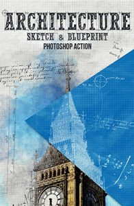Architect Sketch and Blueprint Photoshop Special Effect Photo