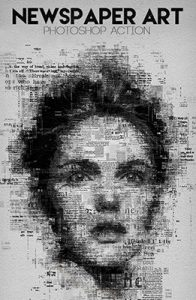 Newspaper Art Photoshop Special Effect Photo