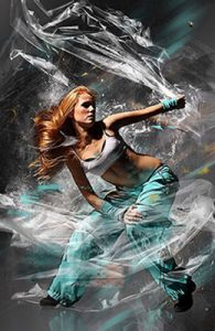 Plastic Wrap Photoshop Special Effect Photo