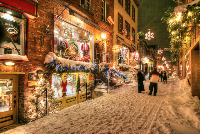 Old Quebec City District Alley - Stock Photo