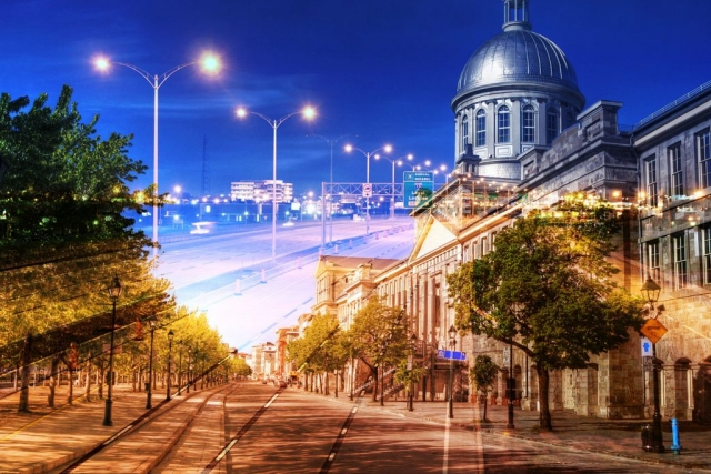 Bonsecour Market in Montreal - Stock Photo