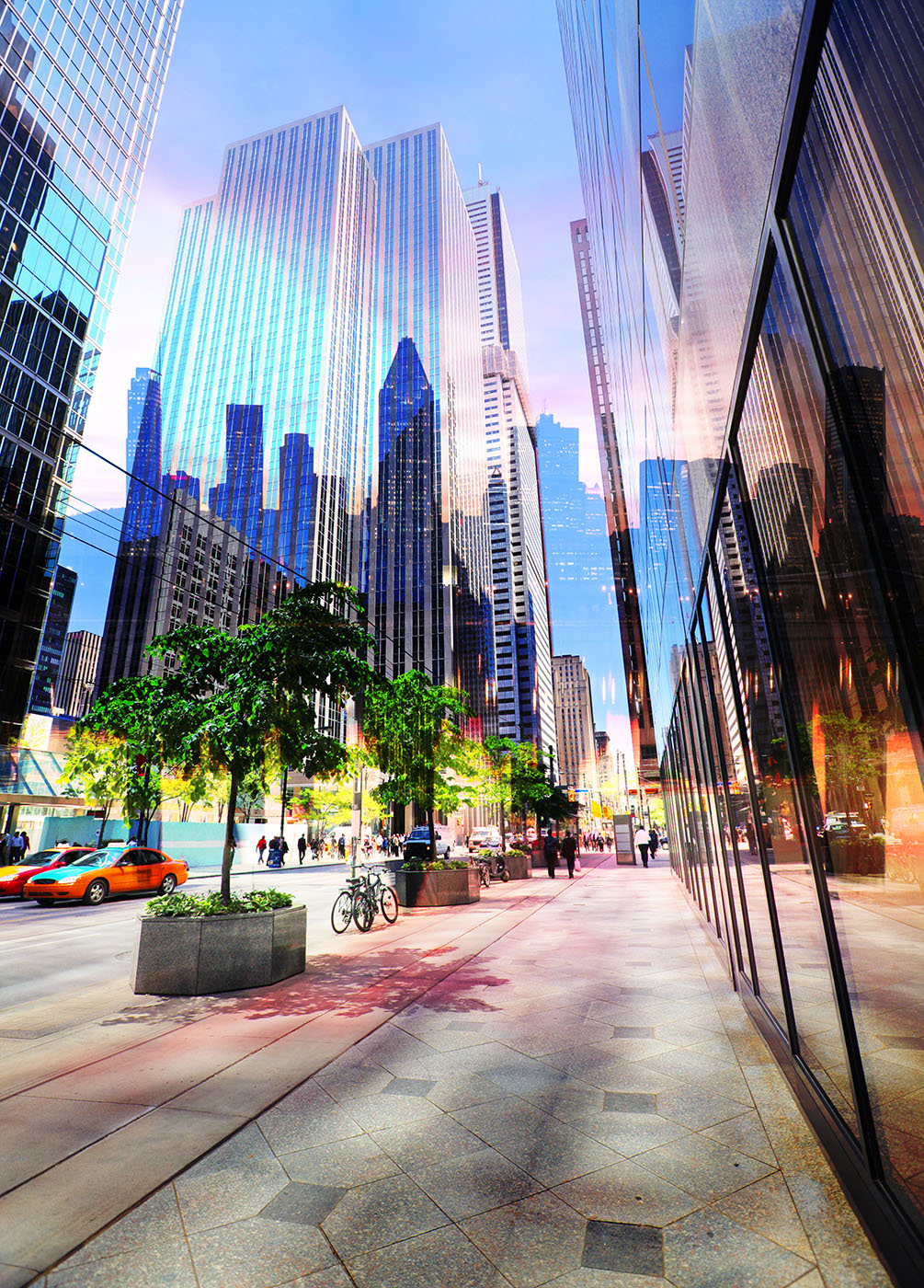 Downtown Office Street 3 - Stock Photo