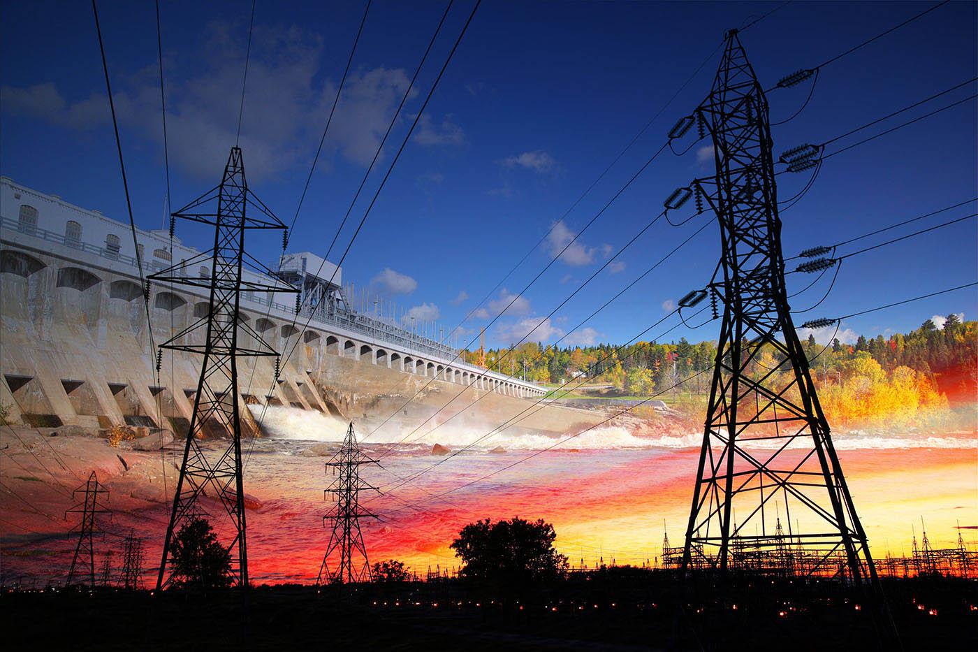 Electric Dam 02 - Stock Photo