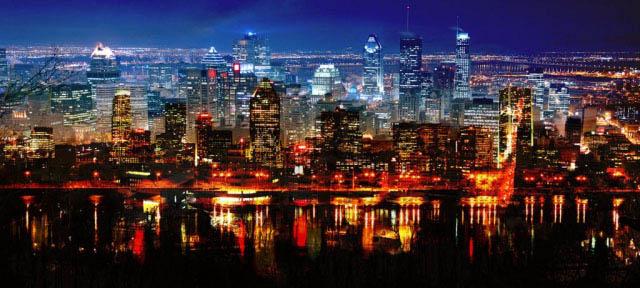 Montreal City in Double - Stock Photo