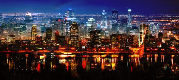 Montreal City in Double - Stock Photo