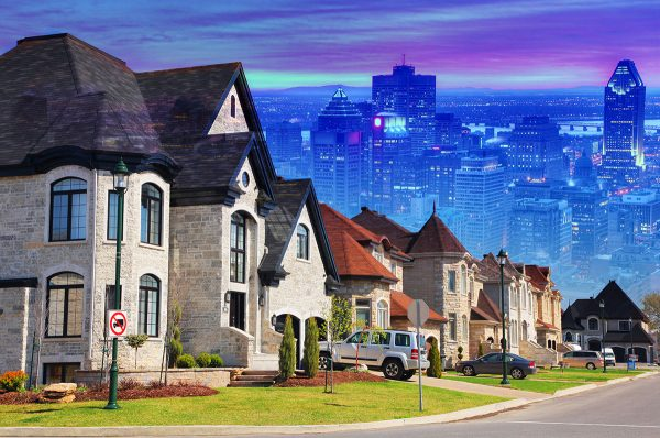 Urban Sprawl Photo Montage - Stock Photo