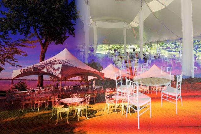 Celebration Tent Photo Montage - Stock Photo