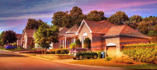 Cozy Neighborhood 01 - Stock Photo