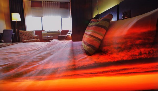 Sunset Bed Cover 1 - Stock Photo