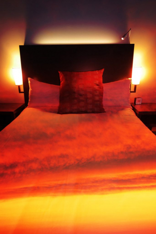 Sunset Bed Cover 2 - Stock Photo