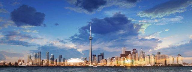 Toronto City Daytime Skyline - Stock Photo