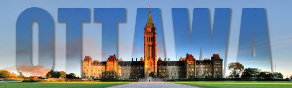 Federal Parliament with Ottawa Text 1 - Stock Photo