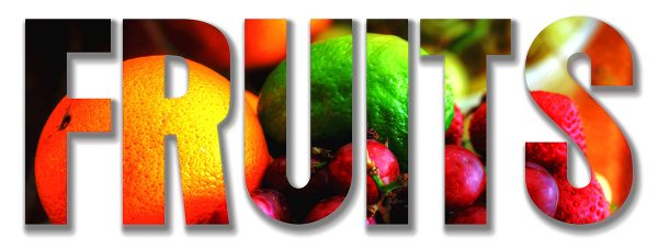 Fruits Text 1 - Stock Photo
