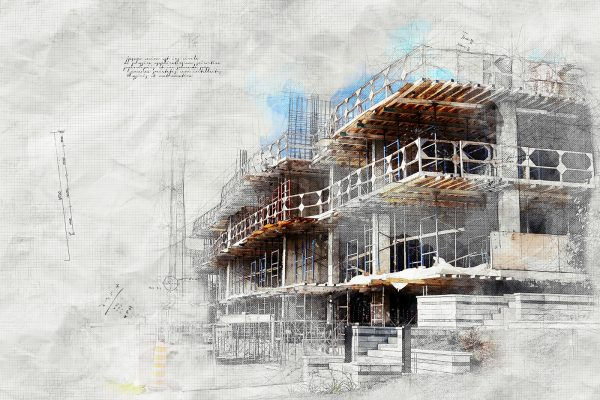 Construction Project Sketch Image - Stock Photo