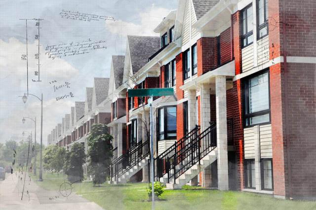 Urban Condos Sketch Image - Stock Photo