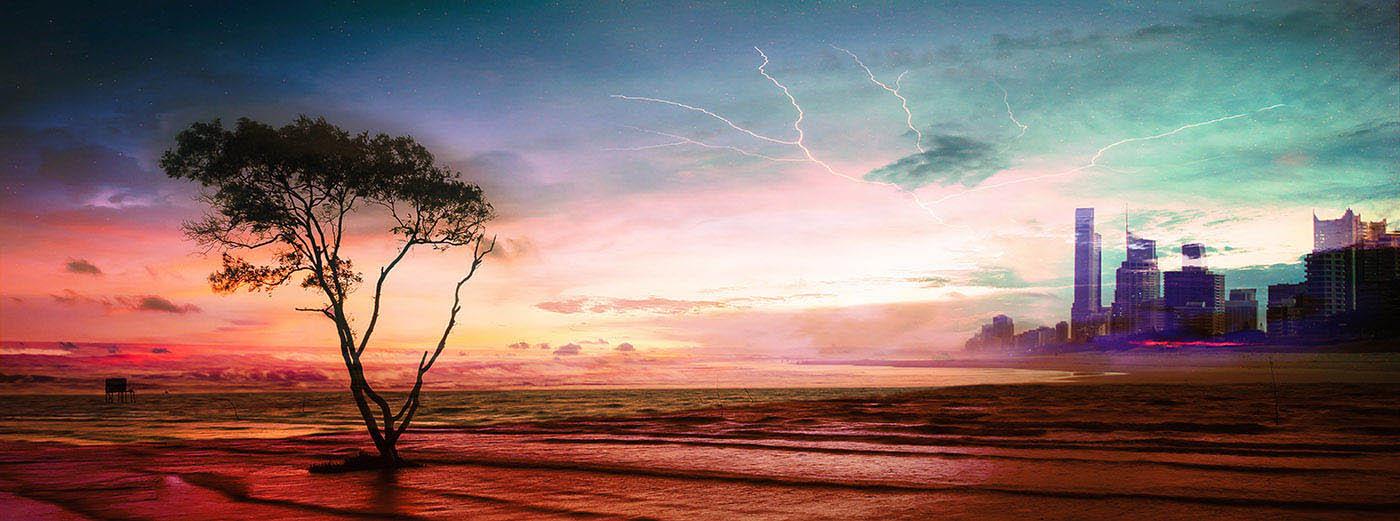 Colorful Apocalyptic Landscape 06 - Stock Photo