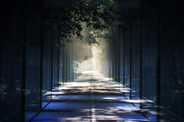 Light at the End Perspective 01 - Stock Photo