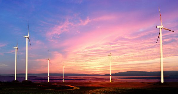 Windmills at Sunset 01 - Stock Photo