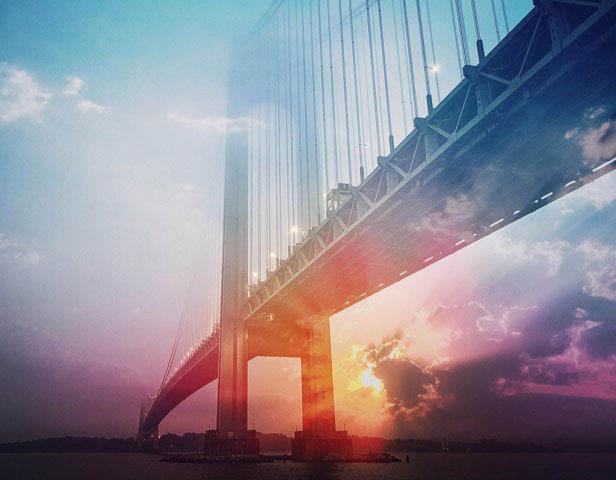 Surreal Suspension Bridge 01 - Stock Photo