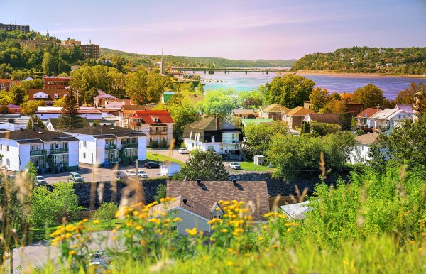 Saguenay City Neighborhood - Stock Photo