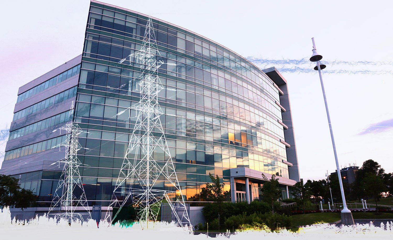 Modern Business Electrification on White - Stock Photo
