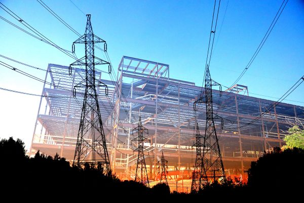 Modern Construction Industry Electrification - Stock Photo